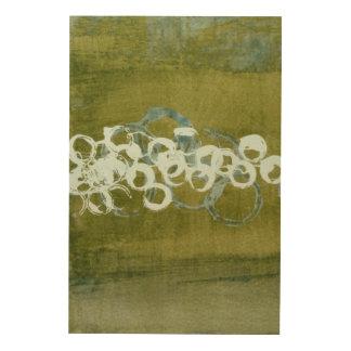 Impresión En Madera Orbes verdes I