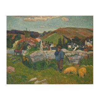 Impresión En Madera Paul Gauguin el Swineherd