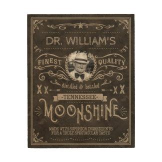 Impresión En Madera Personalizado Brown del vintage de la medicina del