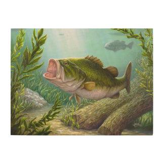 Impresión En Madera Pescados bajos