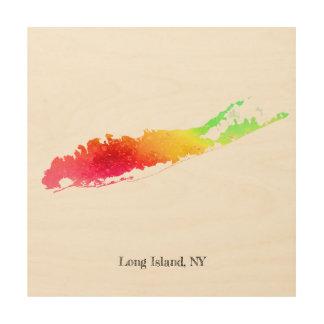 """Impresión En Madera Pinte Long Island 12"""" X12"""""""
