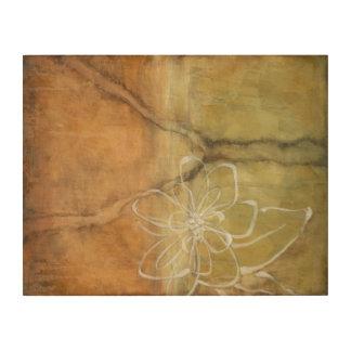 Impresión En Madera Pintura abstracta de la silueta en fondo del