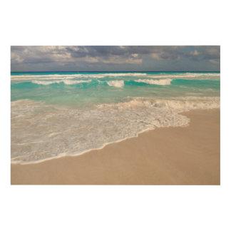 Impresión En Madera Playa tropical y playa de Sandy