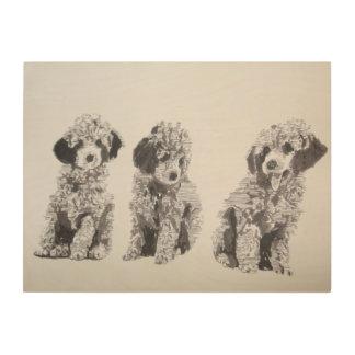 Impresión En Madera Poodle