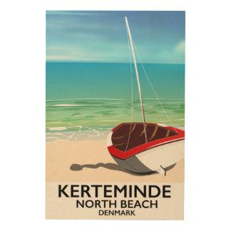 Impresión En Madera Poster del norte del viaje de Dinamarca de la