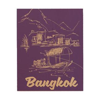 Impresión En Madera Poster del viaje de Bangkok, Tailandia