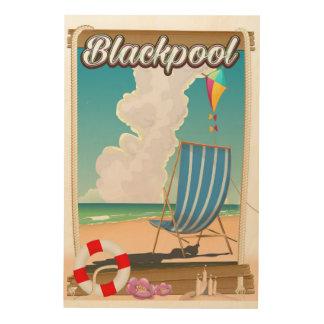 Impresión En Madera Poster del viaje de la playa de la playa de