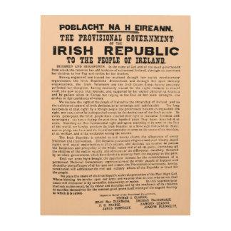 Impresión En Madera Proclamación 1916 de la República de Irlanda