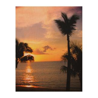 Impresión En Madera Puesta del sol de Maui
