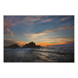 Impresión En Madera Puesta del sol grande de Sur