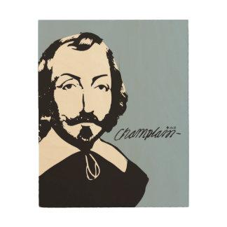 Impresión En Madera Quebec Samuel Champlain 1608 Padre Noticia-Francia