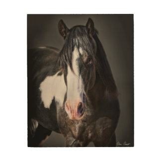 Impresión En Madera Retrato II del caballo