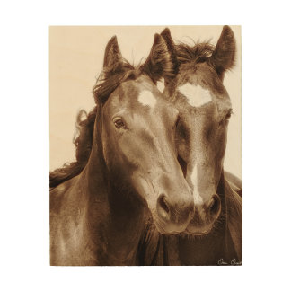 Impresión En Madera Retrato III del caballo