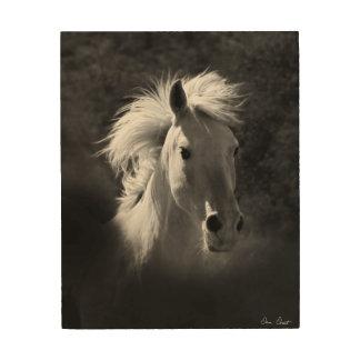 Impresión En Madera Retrato V del caballo