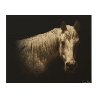 Impresión En Madera Retrato VI del caballo
