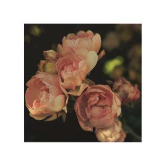 Impresión En Madera Rosas