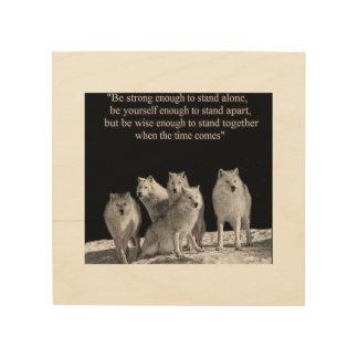 Impresión En Madera Sea bastante fuerte colocar solamente… lobos