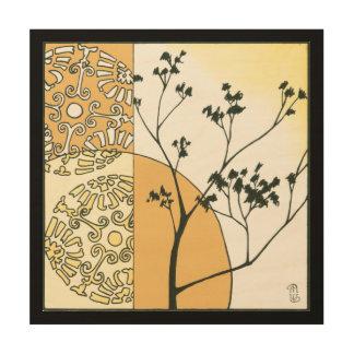 Impresión En Madera Silueta escasa del árbol de Megan Meagher