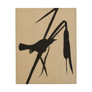 Impresión En Madera Silueta II de Audubon