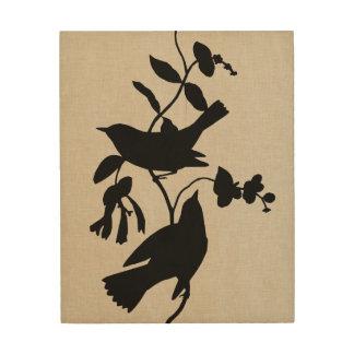 Impresión En Madera Silueta IV de Audubon