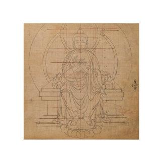 Impresión En Madera Simetría tibetana