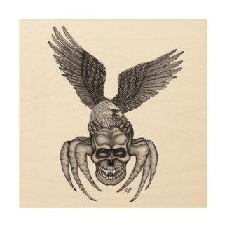 Impresión En Madera Spiderskull con Eagle
