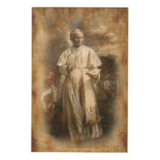 Impresión En Madera St John Paulo II por Eklektix.