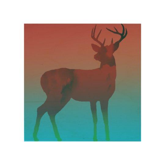 Impresión En Madera Sueño de los ciervos