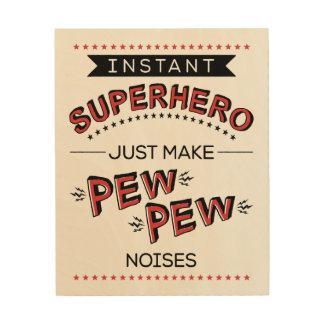 Impresión En Madera Super héroe inmediato: Haga la lona de madera de
