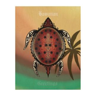 Impresión En Madera Tatuaje de la tortuga de la fantasía