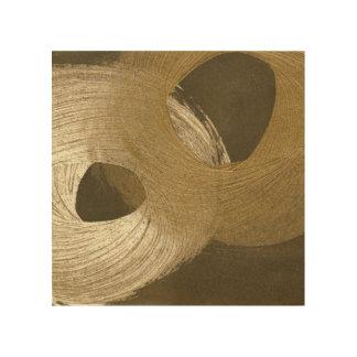 Impresión En Madera Tempestad de arena circular en moreno y Brown