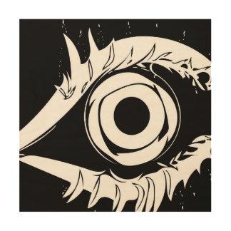 Impresión En Madera Tengo mi ojo en usted #1