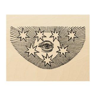 Impresión En Madera Todo-Ver el ojo de Horus
