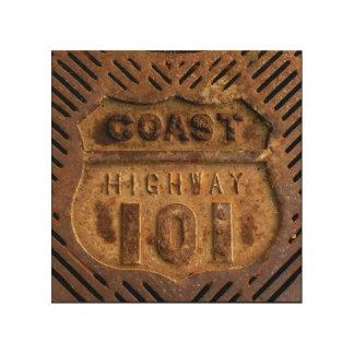 Impresión En Madera Trabajo del hierro de la carretera 101 de la costa