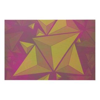 Impresión En Madera triángulos