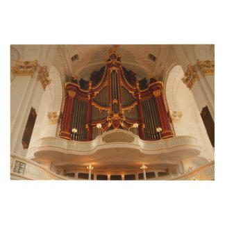 Impresión En Madera Tubos de órgano de la iglesia