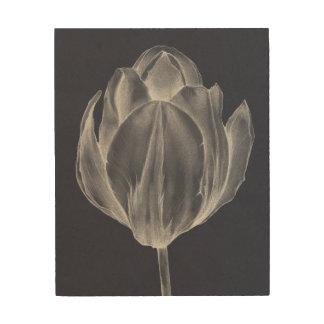 Impresión En Madera Tulipán monocromático I