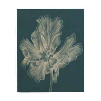 Impresión En Madera Tulipán monocromático II