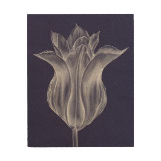 Impresión En Madera Tulipán monocromático III