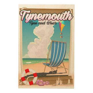 Impresión En Madera Tynemouth Tyne y desgaste, poster del viaje