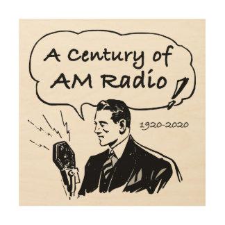 Impresión En Madera Un siglo de radio de la