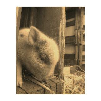 Impresión En Madera Una historia del cochinillo: Demasiado lindo para