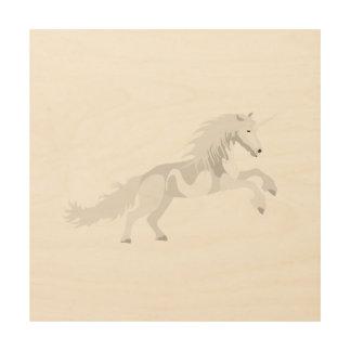 Impresión En Madera Unicornio del blanco del ejemplo