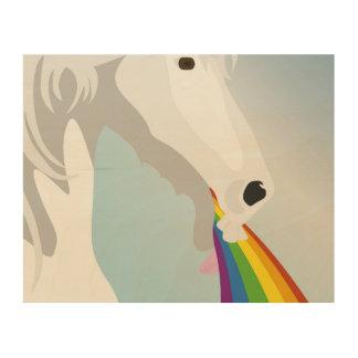 Impresión En Madera Unicornios puking del ejemplo