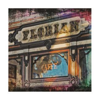 Impresión En Madera Venecia, Italia/arte de la pared de Caffè Florian