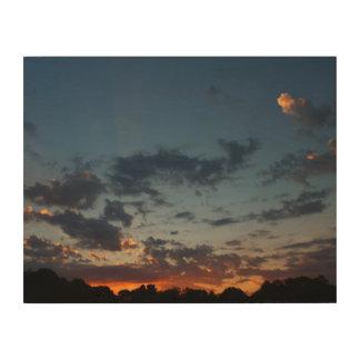 Impresión En Madera Verano del este 2016 del cielo y de las nubes de