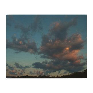 Impresión En Madera Verano occidental 2016 del cielo y de las nubes de