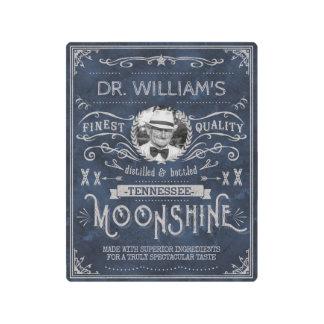 Impresión En Metal Azul de encargo del vintage de la medicina del