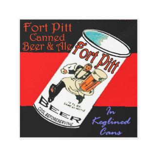 Impresión En Metal Cerveza de Pitt del fuerte