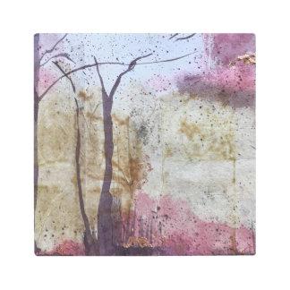 Impresión En Metal Del bosque un tapiz dentro -